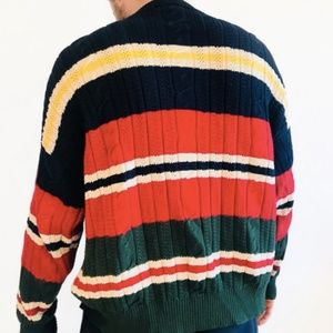Nautica Striped Cotton Knit Sweater
